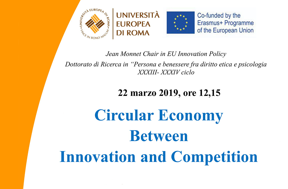 Circular economy between innovation and competition