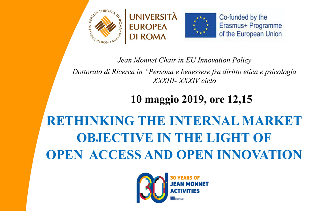 Rethinking the internal market objective in the light of open access and open innovation