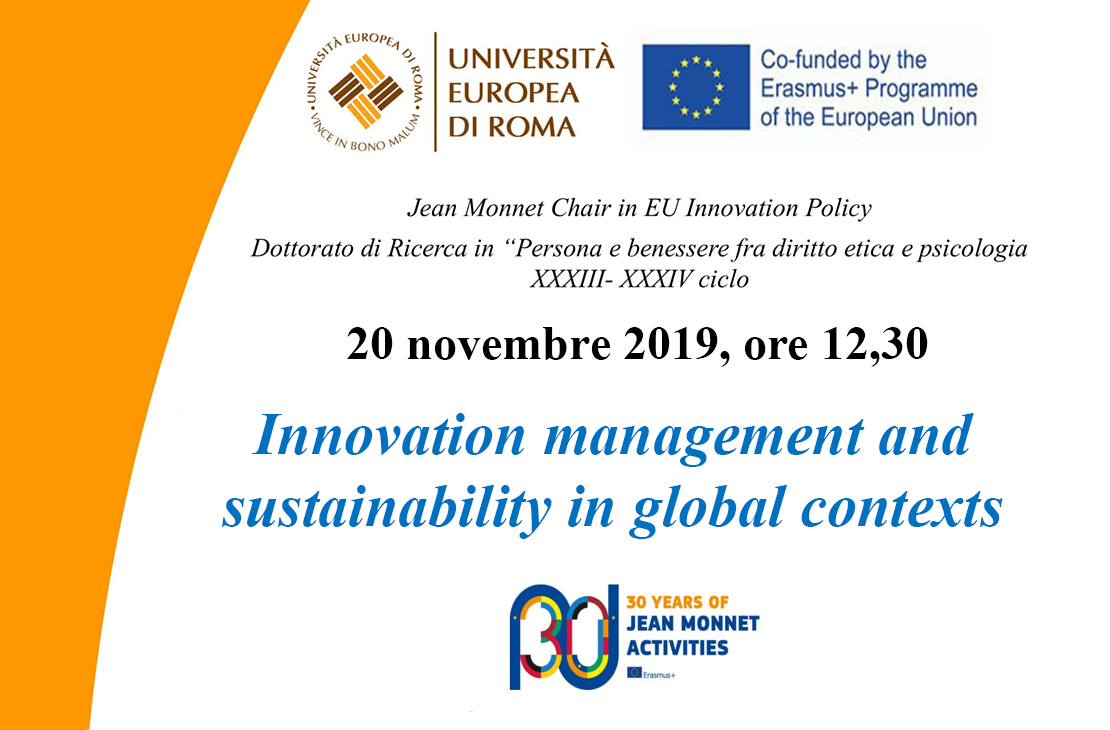 Innovation management and sustainability in global contexts
