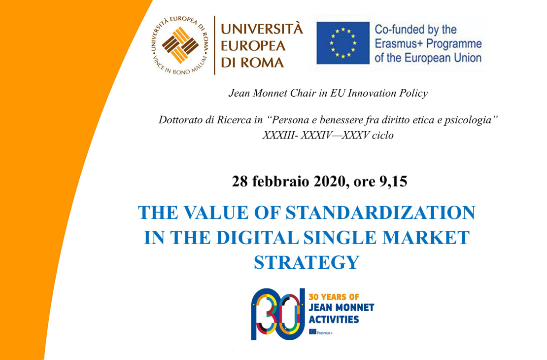 The value of standardization in the digital single market strategy