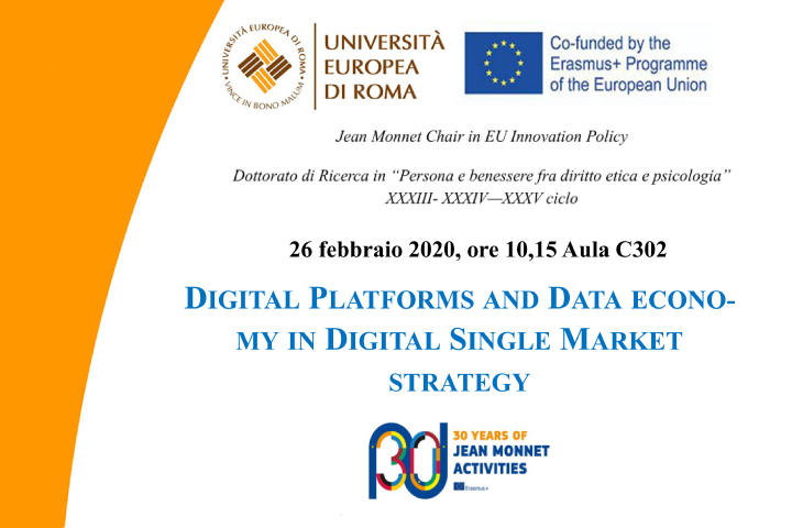 Digital platforms and data economy in digital single market strategy