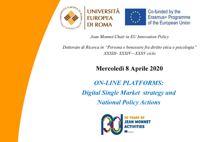 ON-LINE PLATFORMS: Digital Single Market strategy and National Policy Actions